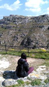Osservare la montagna dai Sassi di Matera