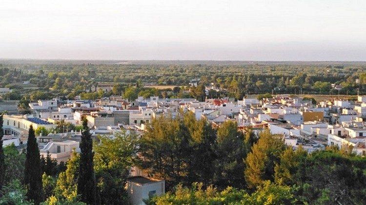 Città di Oria vista dal Parco Montalbano