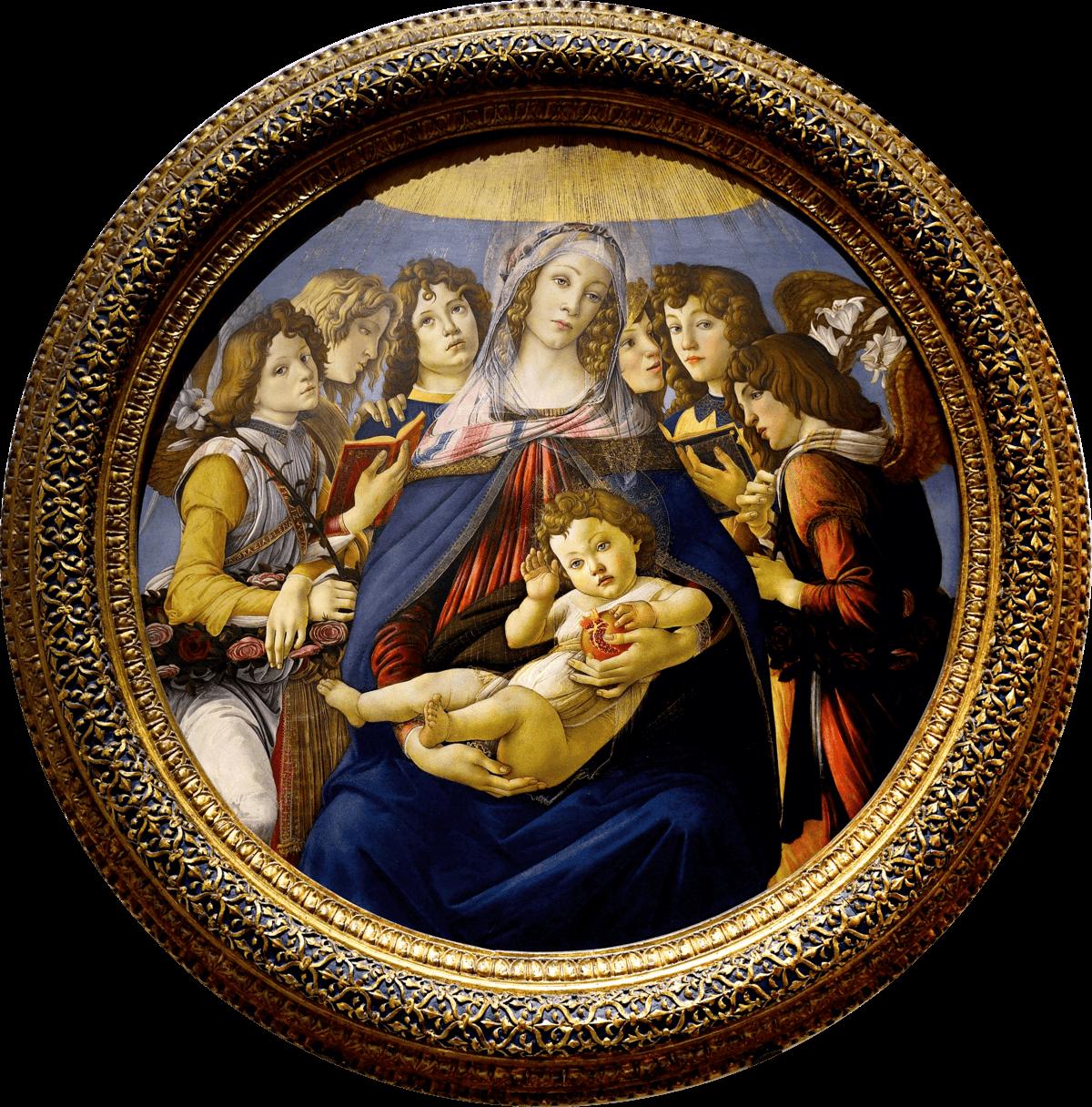 dipinto madonna della melagrana